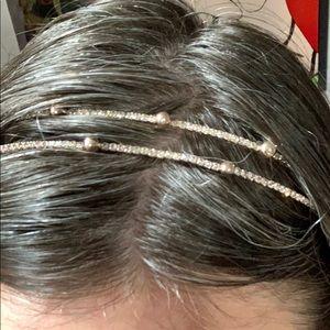 Gold & Rhinestone Double Row Headband